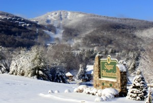 Sugar Mountain Winter Resort Sign