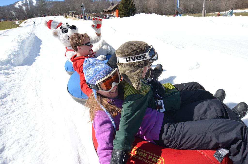 snow tubing near Sugar Mountain