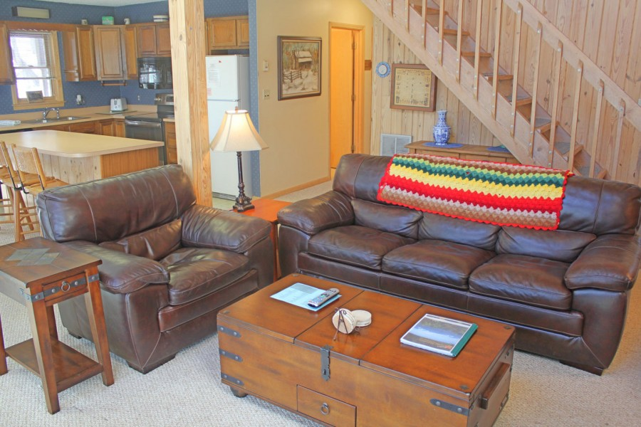Living room of vacation rental in Sugar Mountain.
